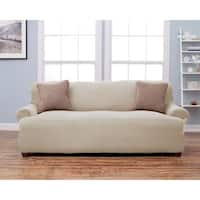 Home Fashion Designs Lucia Collection Corduroy Form Fit Sofa Protector Slip Cover