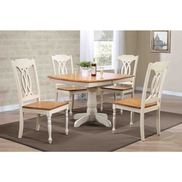Shop Piece CaramelBiscotti X X Boat Shape Traditional - 36 x 48 dining table with leaf