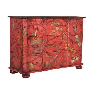Red Floral Duchess 3-drawer Chest