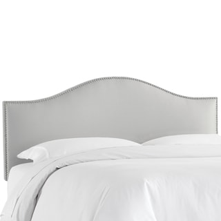 Skyline Furniture Nail Button Headboard in Shantung Silver