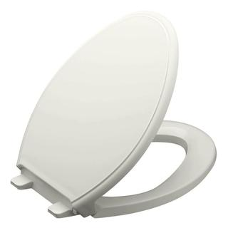 Kohler Glenbury Quiet-Close Elongated Toilet Seat with Grip-tight Bumpers in Ice Grey