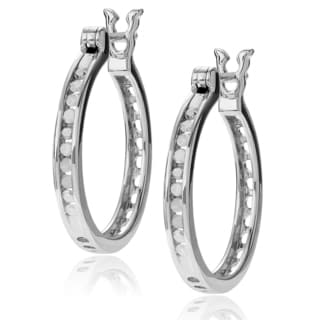 Journee Collection Sterling Silver 1/5 ct. Diamond TDW Round Cut Earrings