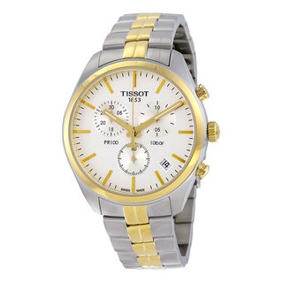 Link to Tissot Men's T1014172203100 'PR 100' Chronograph Two-Tone Stainless Steel Watch Similar Items in Men's Watches