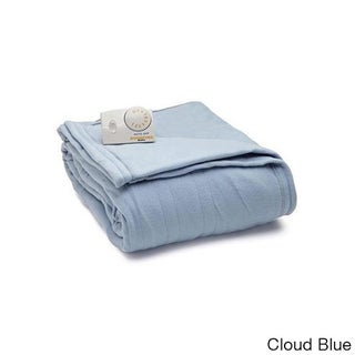 Biddeford Comfort Knit Fleece Heated Blanket with Analog Control (Option: King Cloud Blue)