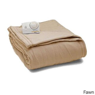 Biddeford Comfort Knit Fleece Heated Blanket with Analog Control (Option: Full Fawn)