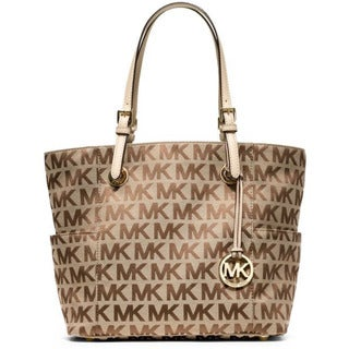 Michael Kors Jet Set MK Logo Signature Tote Handbag