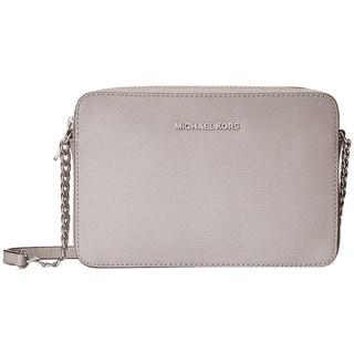 Link to Michael Kors Jet Set Large Crossbody Pearl Grey Handbag Similar Items in Shop By Style