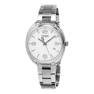 Fendi Women's F211034000 'Momento' White Dial Stainless Steel Swiss Quartz Watch