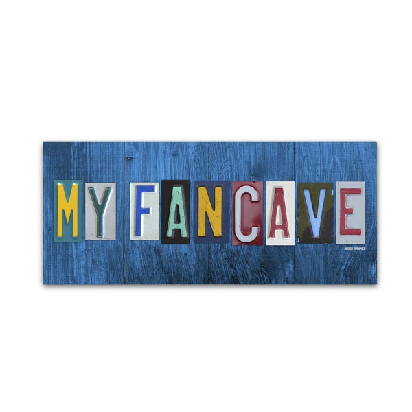 Design Turnpike 'My Fan Cave' Canvas Wall Art