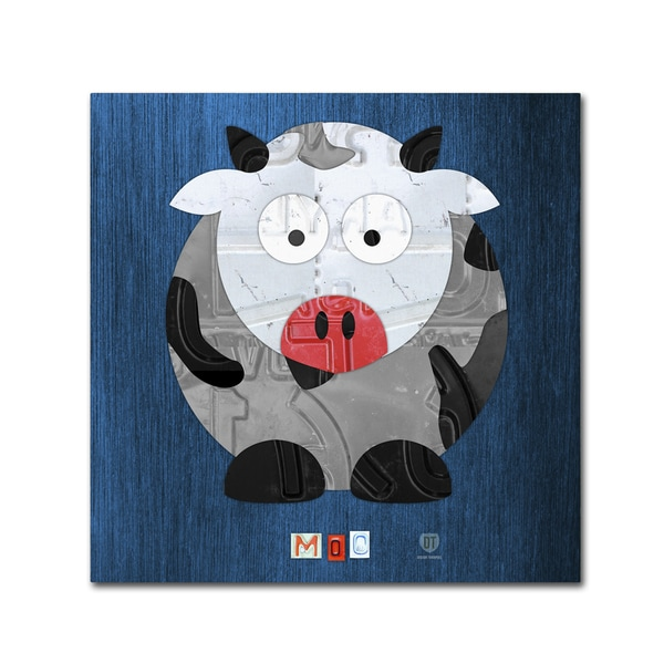 Design Turnpike 'Moo The Cow' Canvas Wall Art