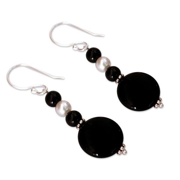 Designer Jewelry Black Onyx Sterling Silver Overlay 5 Grams Stud//Earring 12 mm
