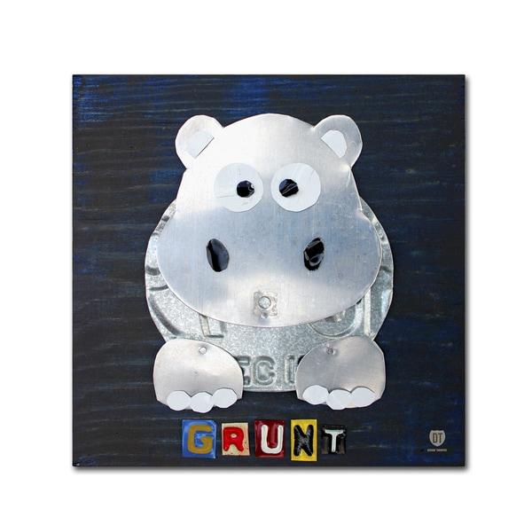 Shop Design Turnpike \'Grunt The Hippo\' Canvas Wall Art - On Sale ...