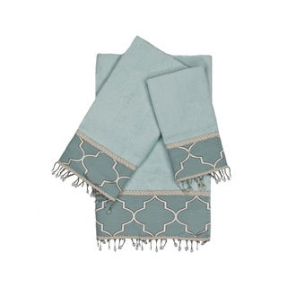 Austin Horn En'Vogue Stanton Beads Aqua 3-piece Decorative Embellished Towel Set