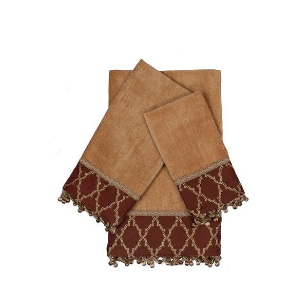 Austin Horn Classics Somerset Gold 3-piece Decorative Embellished Towel Set