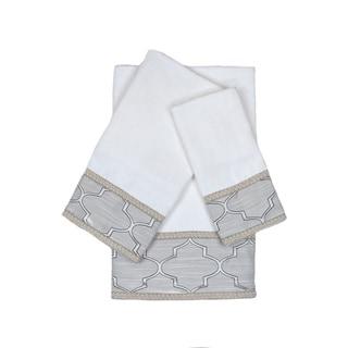 Austin Horn En'Vogue Stanton Gimp White 3-piece Decorative Embellished Towel Set