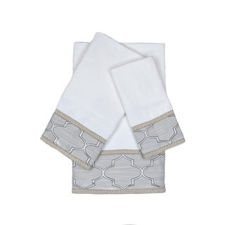 Austin Horn En'Vogue Stanton Gimp White 3-piece Decorative Embellished Towel Set