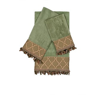 Austin Horn Classics Somerset Sage 3-piece Decorative Embellished Towel Set