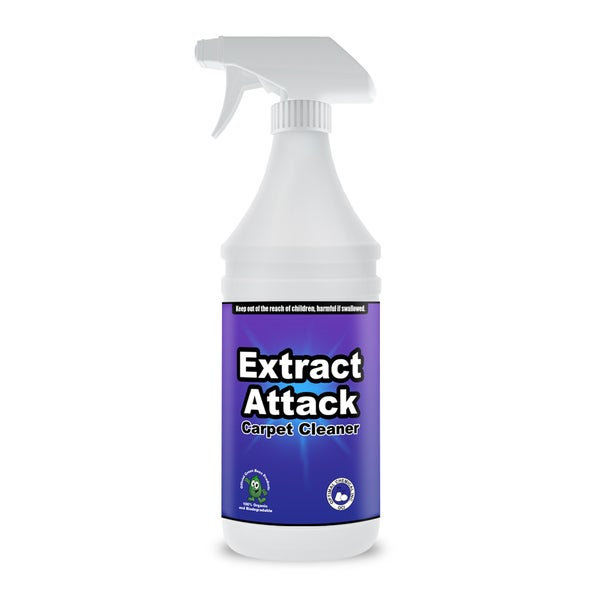 extract attack organic carpet cleaning solution for carpets rugs furniture and automotive. Black Bedroom Furniture Sets. Home Design Ideas