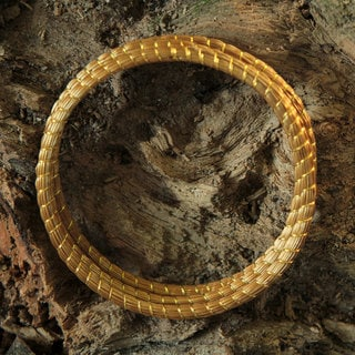 Set of 3 Golden Grass 'Natural Aura' Bracelets (Brazil)