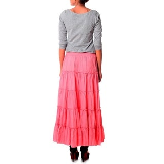 Handmade Cotton 'Strawberry Frills' Skirt (India)