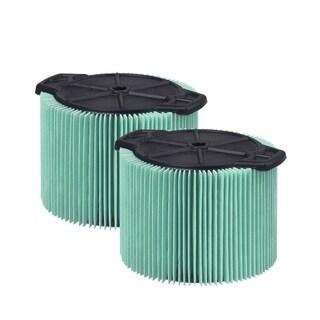 WORKSHOP Wet/Dry Vacs WS13045F HEPA Media Cartridge Filter (2-pack)