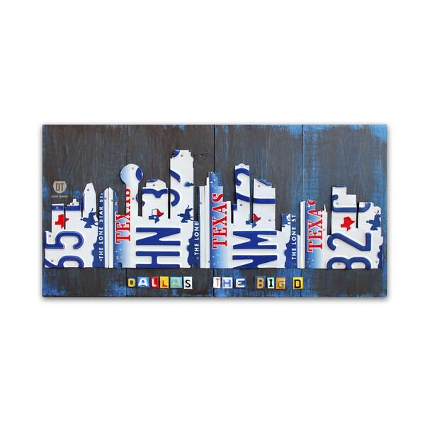 Shop Design Turnpike \'Dallas Skyline\' Canvas Wall Art - On Sale ...