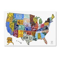 Design Turnpike 'License Plate Map USA 2' Canvas Wall Art - Multi
