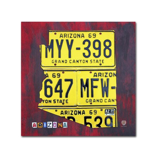 Shop Design Turnpike \'Arizona License Plate\' Canvas Wall Art - Free ...