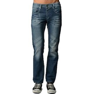Dinamit Men's Five Pocket Classic Abrasion Jeans