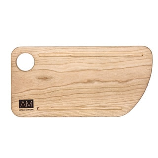 Cherry Wood Cutting Board Style Rustic Serving Plates 6x12 by L'Atelier Moderne