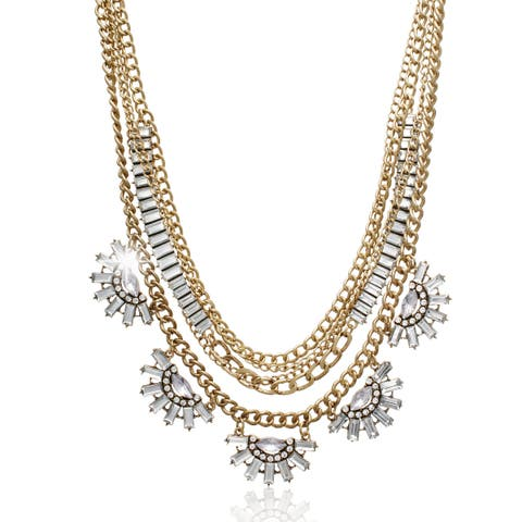 Passiana Clear Crystal Layer Necklace