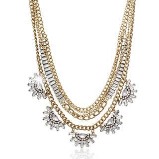Adoriana Clear Crystal Layer Necklace