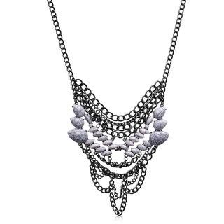 Adoriana White Chain Statement Necklace