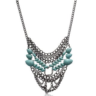Adoriana Turquoise Chain Statement Necklace