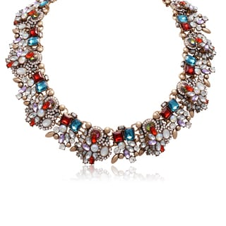 Adoriana Holiday Crystal Statement Necklace