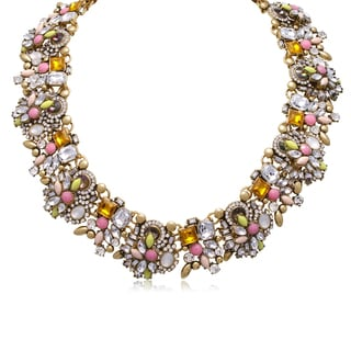 Passiana Pastel Crystal Statement Necklace