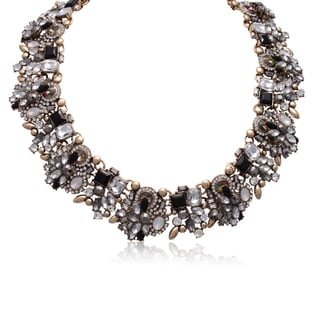 Adoriana Black Crystal Statement Necklace