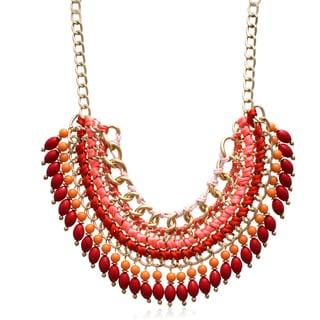 Adoriana Infrared Chain Statement Necklace