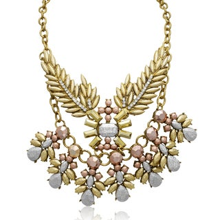 Passiana Metallic Branch Statement Necklace