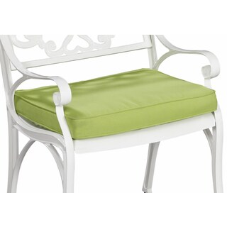 Green Apple Fabric Outdoor Seat Cushion by Home Styles