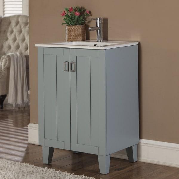 Shop Infurniture Inch Single Sink Bathroom Vanity In Grey Blue - Blue grey bathroom vanity