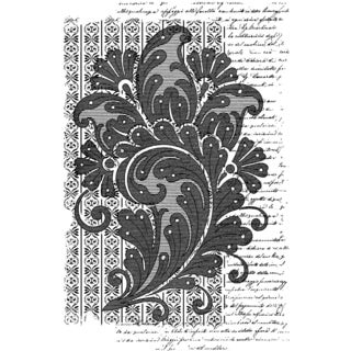 "Crafty Individuals Unmounted Rubber Stamp 4.75""X7"" Pkg-Paisley Script Background"