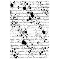 "Crafty Individuals Unmounted Rubber Stamp 4.75""X7"" Pkg-Inky Script Background"
