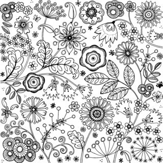 """Crafty Individuals Unmounted Rubber Stamp 4.75""""X7"""" Pkg-Floral Festival XL"""