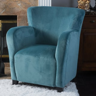 Angelo Velvet Fabric Wingback Club Chair by Christopher Knight Home