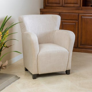 angelo fabric wingback club chair by christopher knight home