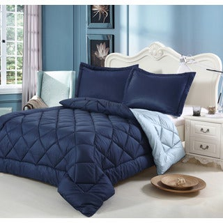 Down alternative Reversible Down Alternative King-size 3-piece Comforter set