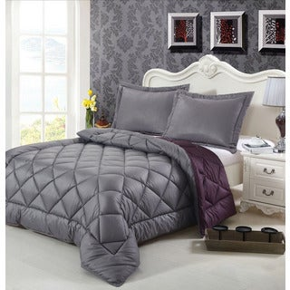 Reversible Down Alternative King-size 3-piece Comforter set