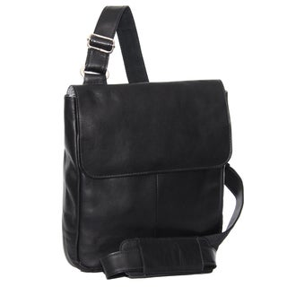 Piel Leather Tablet Cross-body Messenger Bag