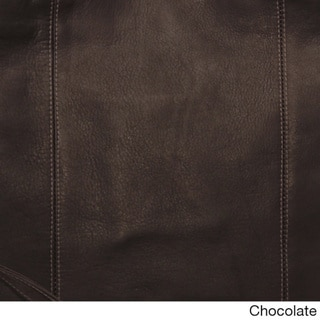Piel Leather Buckle Flap-Over Shoulder Bag